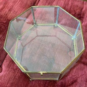 VINTAGE glass octagons terrarium